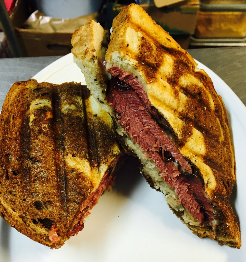 Reuben Sandwich from Carolina Smoke for St. Patricks Day